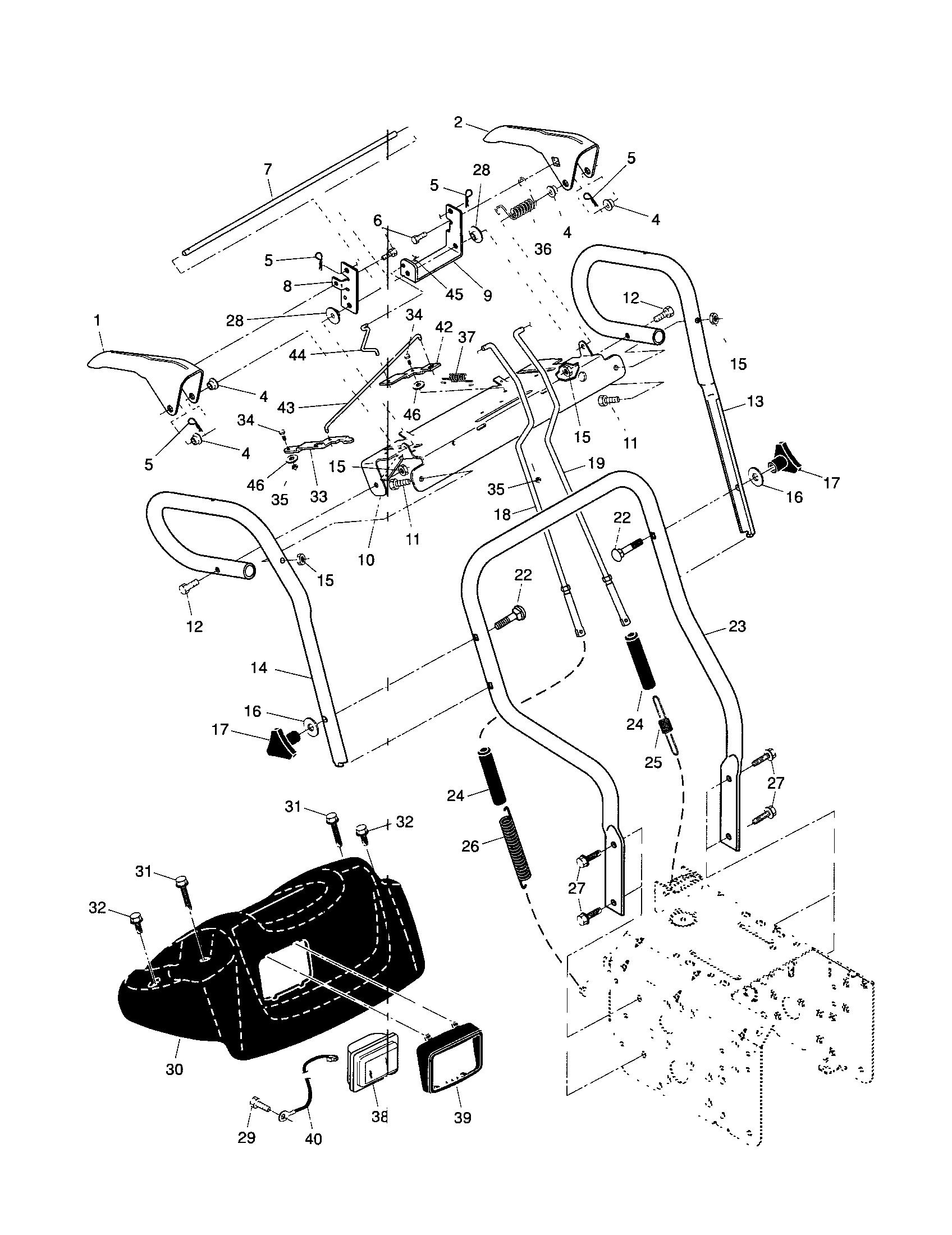 HANDLES Diagram & Parts List for Model 917885530 Craftsman