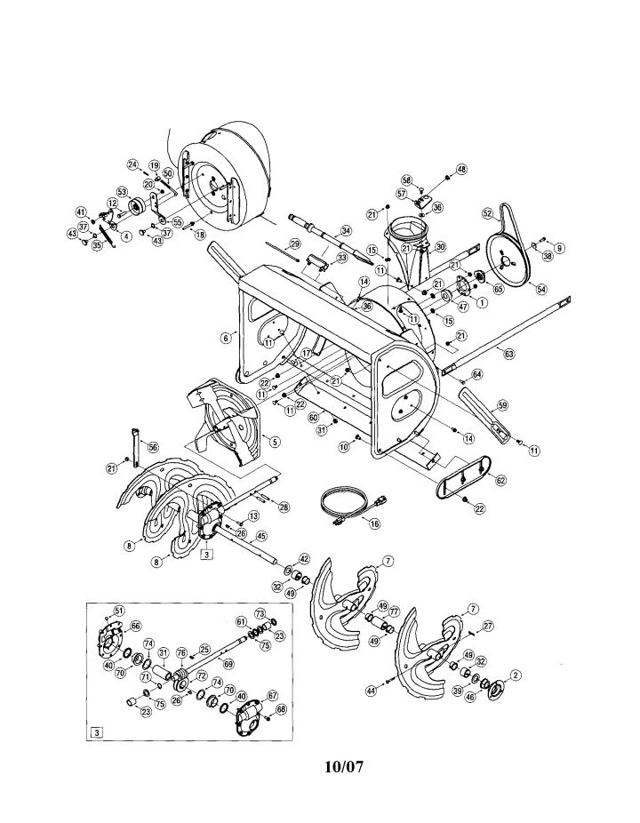 Model 24788033 | CRAFTSMAN SNOW THROWER Parts