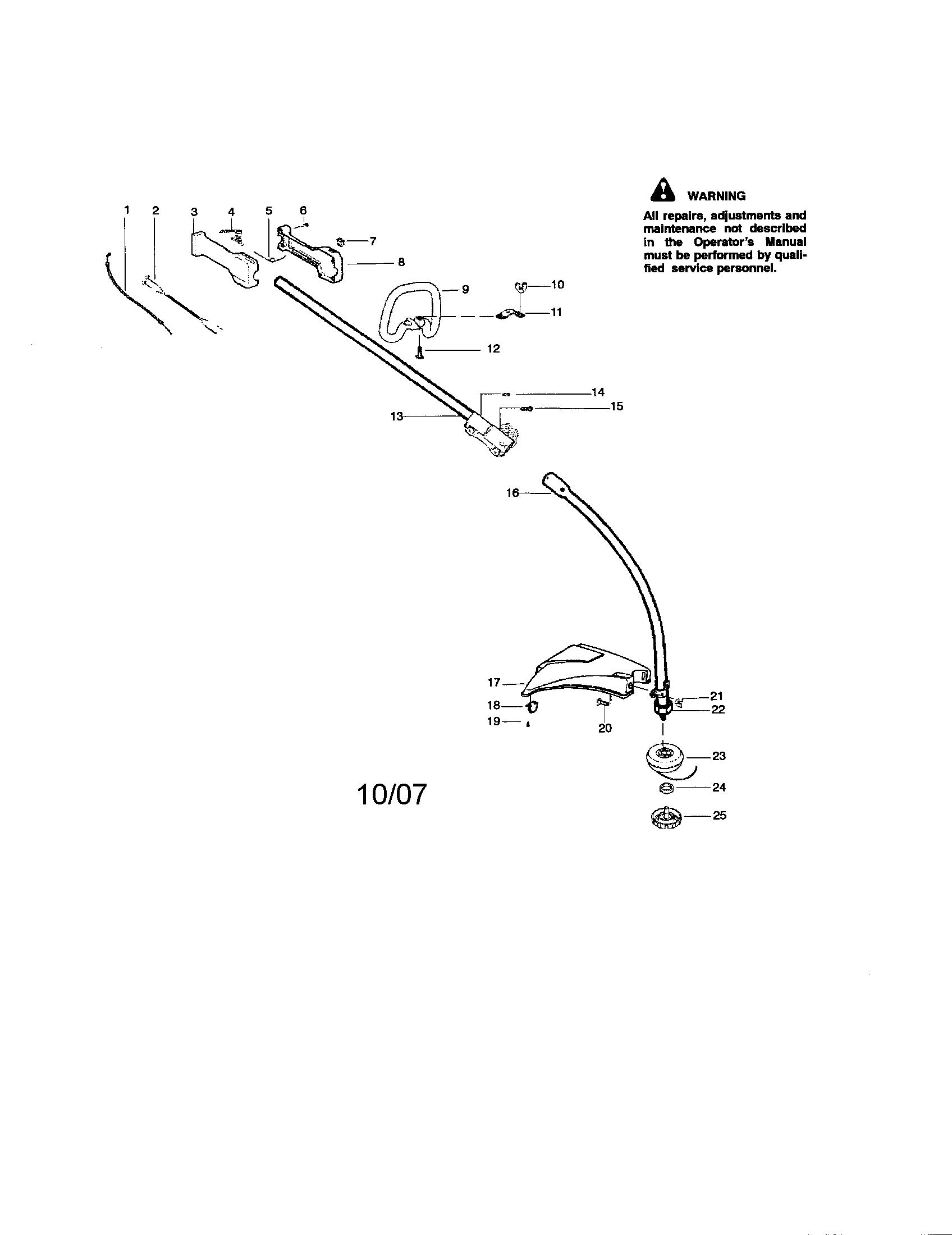 handle diagram and parts list for craftsman walkbehindlawnmower