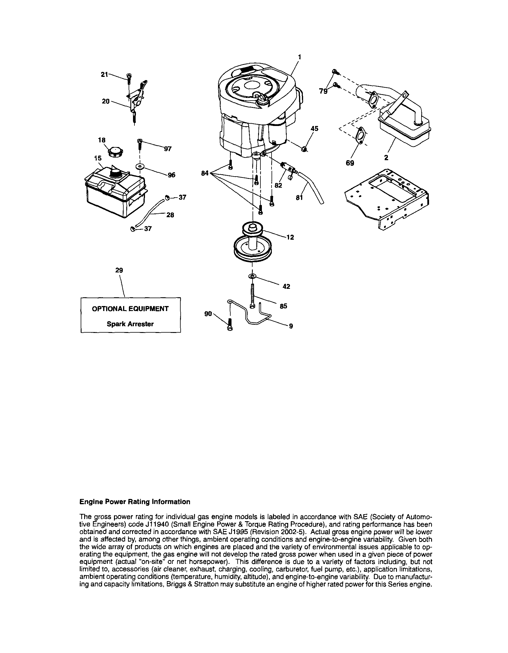hight resolution of craftsman 917t287121 engine diagram