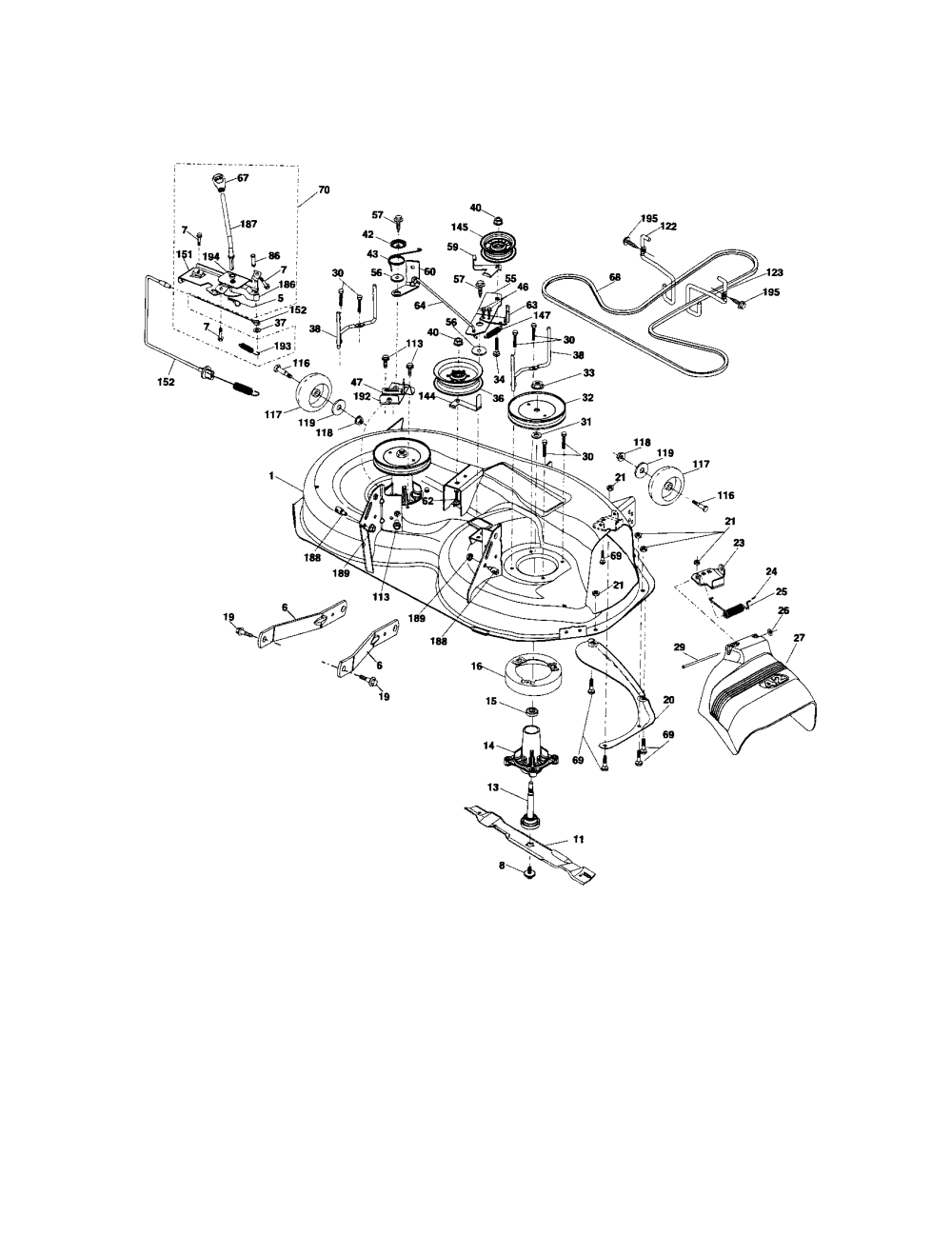 medium resolution of craftsman 917t287121 mower deck diagram