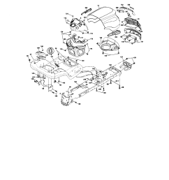 chassis craftsman model 917287480 lawn tractor genuine parts chassis 1999 ford f 150 4 6 triton engine diagram  [ 1730 x 2227 Pixel ]