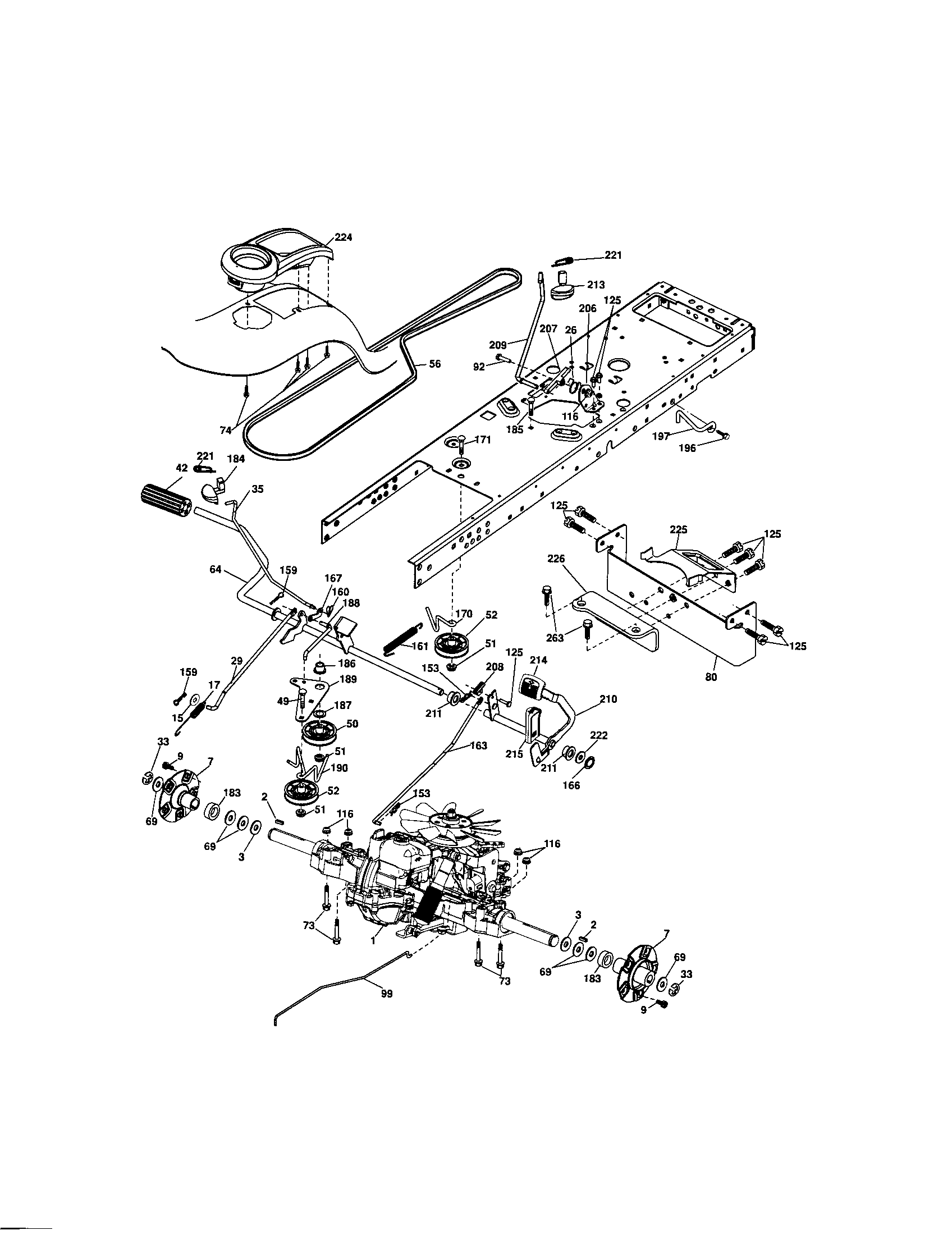 hight resolution of ground drive craftsman model 917287480 lawn tractor genuine parts ground drive 3800 series 2 engine diagram