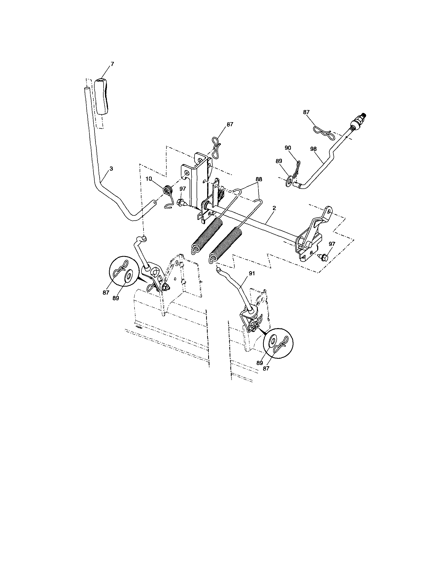 hight resolution of lift craftsman model 917287480 lawn tractor genuine parts lift 1984 honda shadow 500 wiring diagram