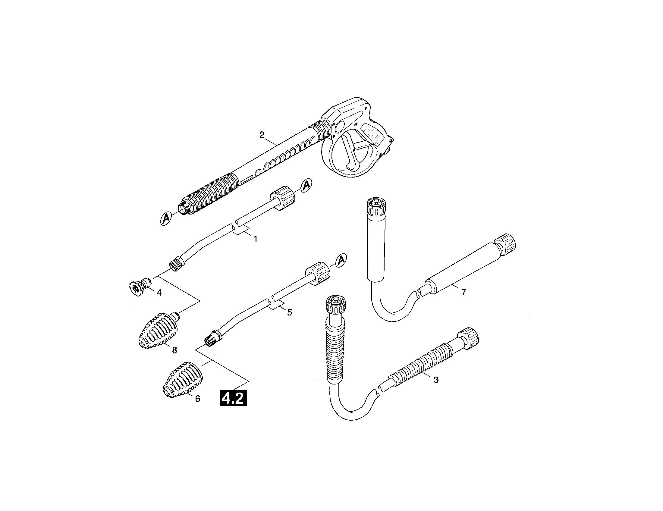ACCESSORIES Diagram & Parts List for Model k2400hh Karcher