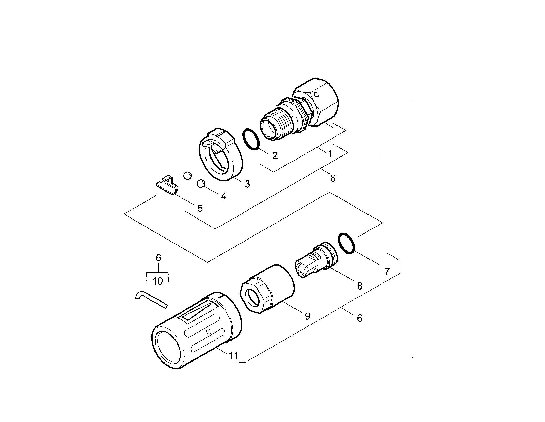 TRIPLE JET NOZZLE Diagram & Parts List for Model k2400hh