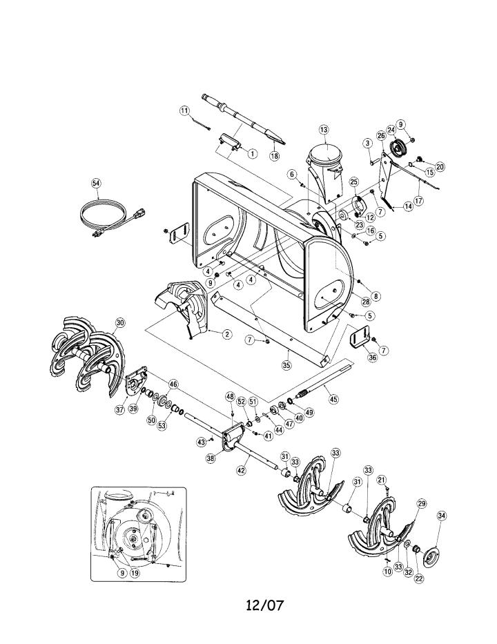 Model 247883550   CRAFTSMAN SNOW THROWER Parts