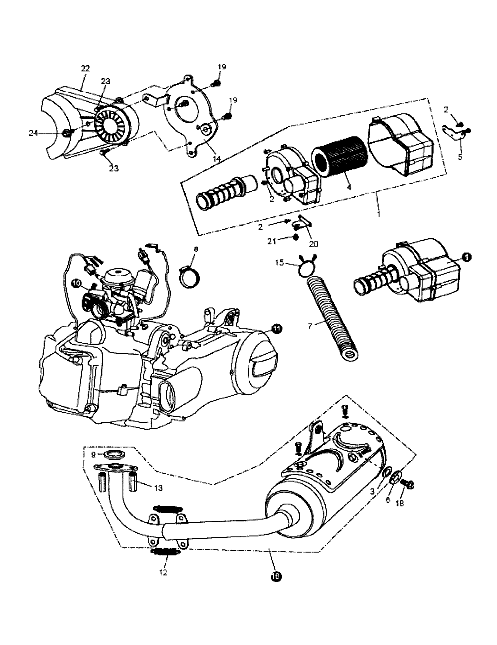 medium resolution of go kart engine diagram