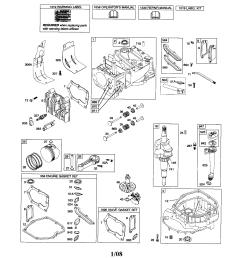 briggs stratton 126t02 0675 b3 cylinder crankshaft sump diagram [ 1696 x 2200 Pixel ]