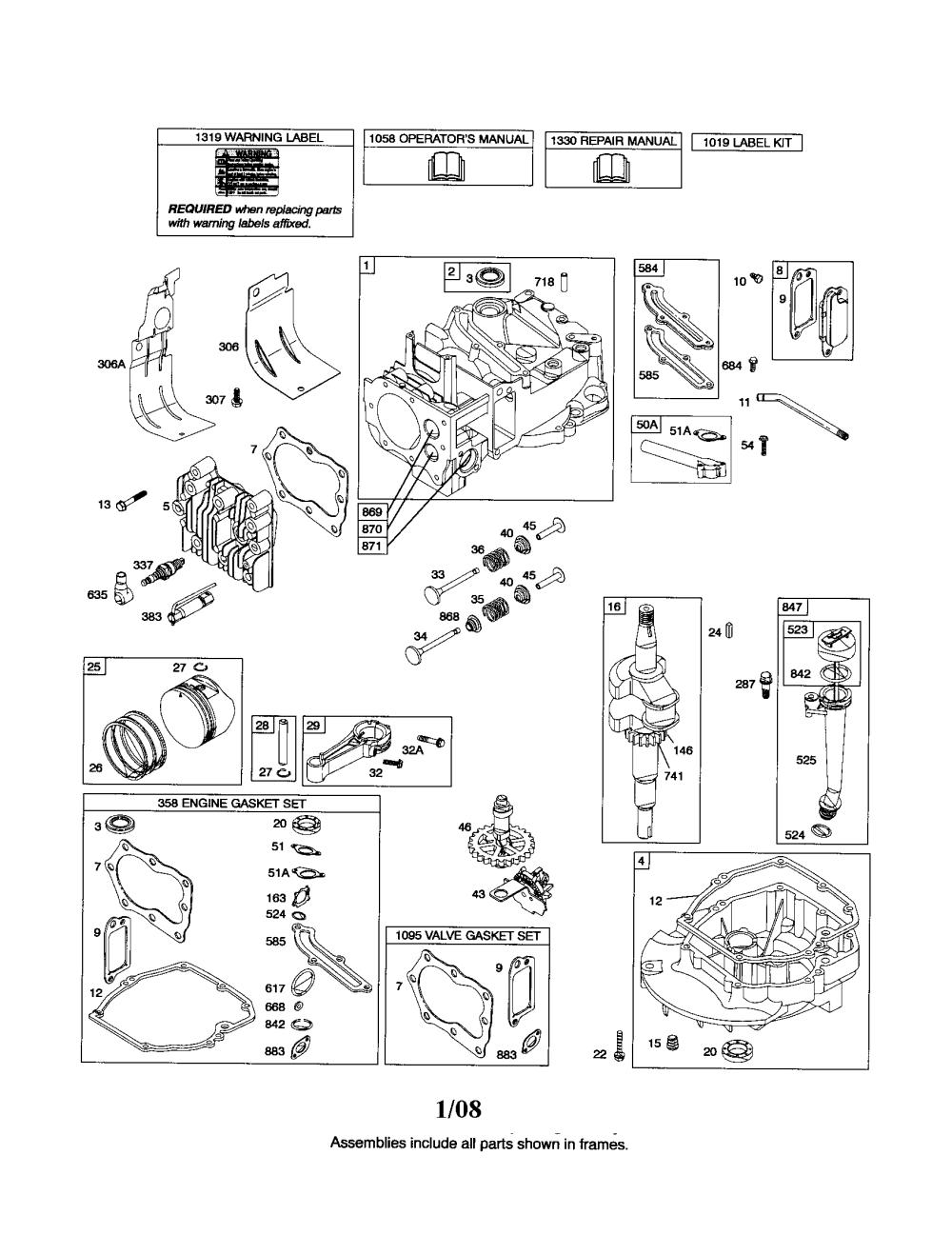 medium resolution of briggs stratton 126t02 0675 b3 cylinder crankshaft sump diagram