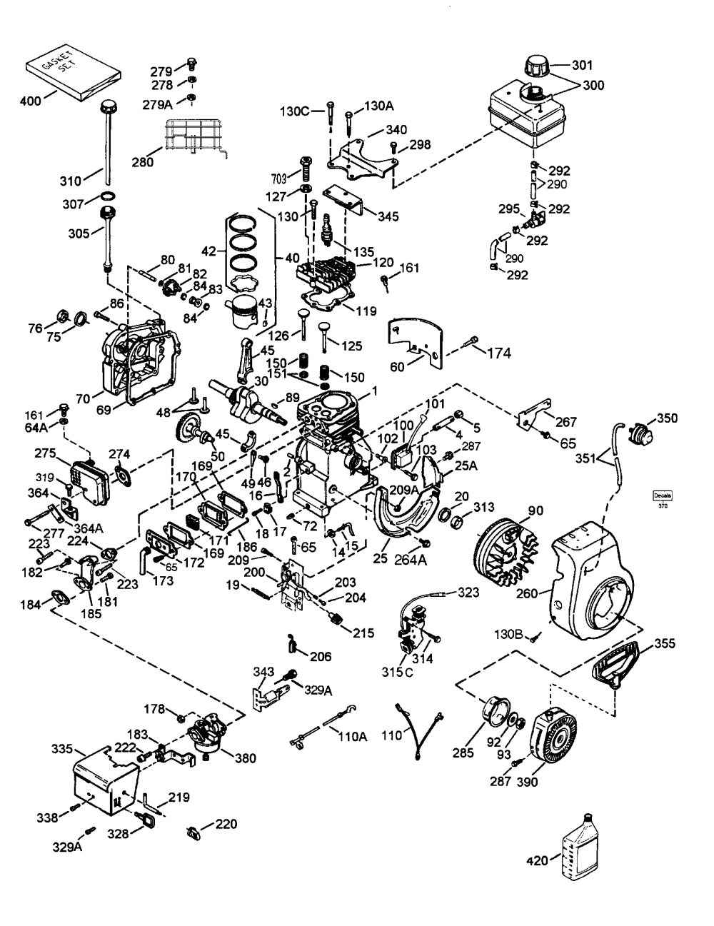 medium resolution of 5 hp tecumseh engine diagram