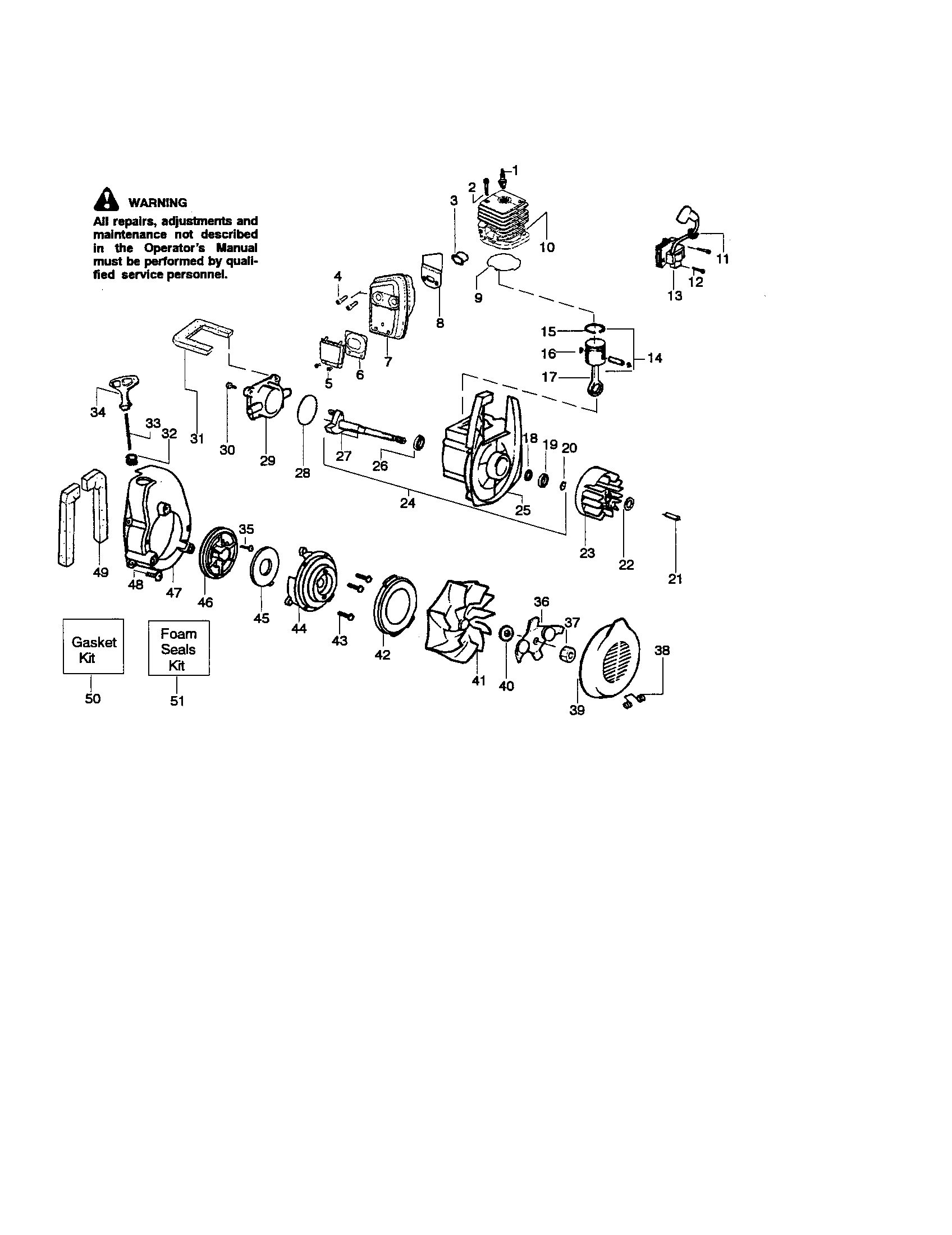 hight resolution of craftsman model 358794964 blower gas genuine parts craftsman leaf blower diagram model 358 797251 craftsman leaf blower wiring diagram 2011