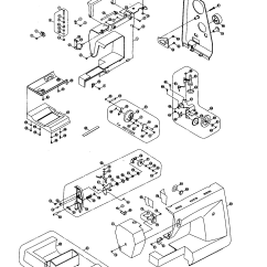 Singer 401a Stitch Diagram Telephone Network Layout Sewing Machine Parts Model 3810 Sears Partsdirect