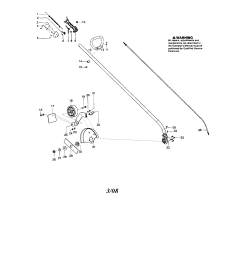 husqvarna 125e driveshaft handle edger guard diagram [ 1717 x 2217 Pixel ]