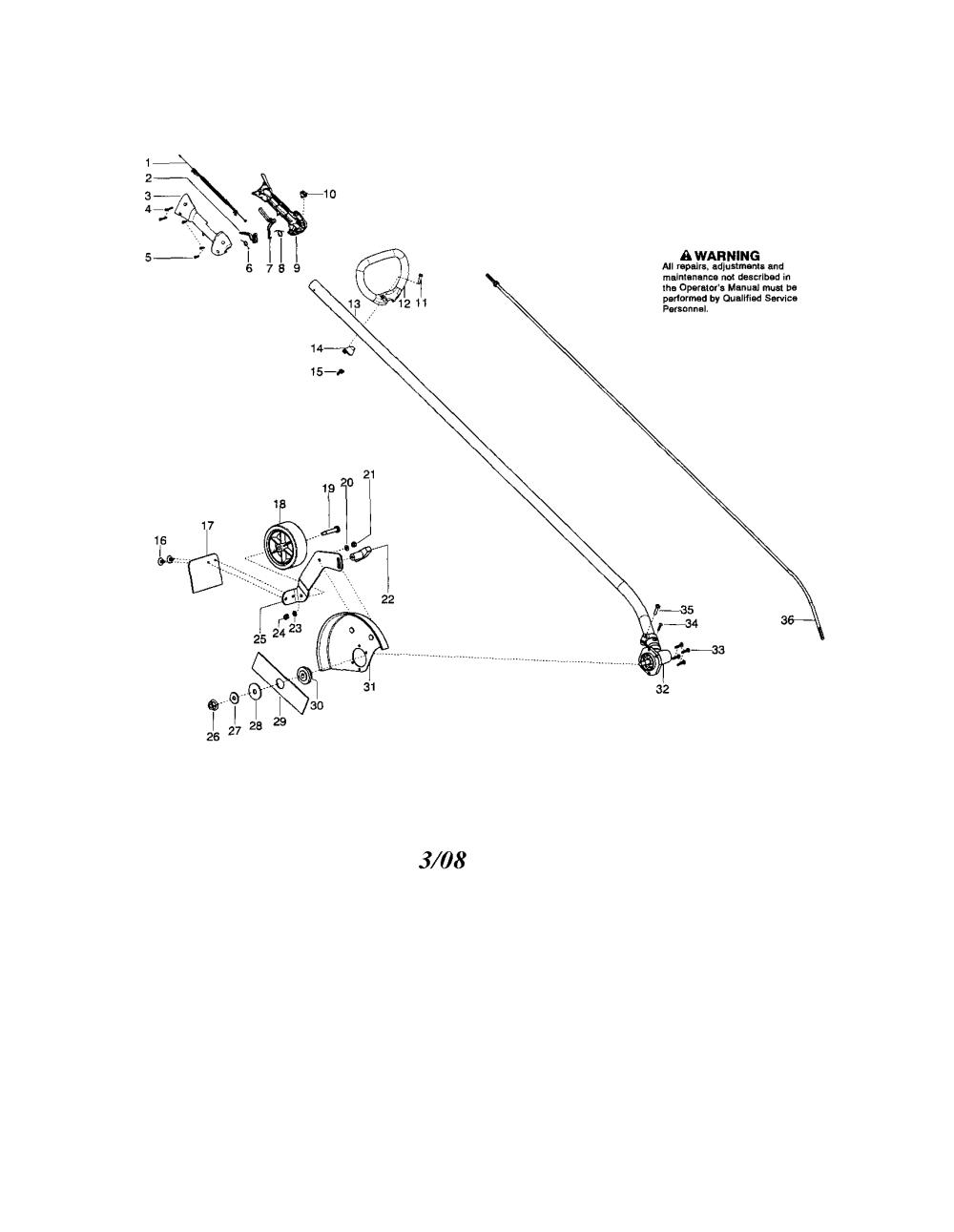 medium resolution of husqvarna 125e driveshaft handle edger guard diagram