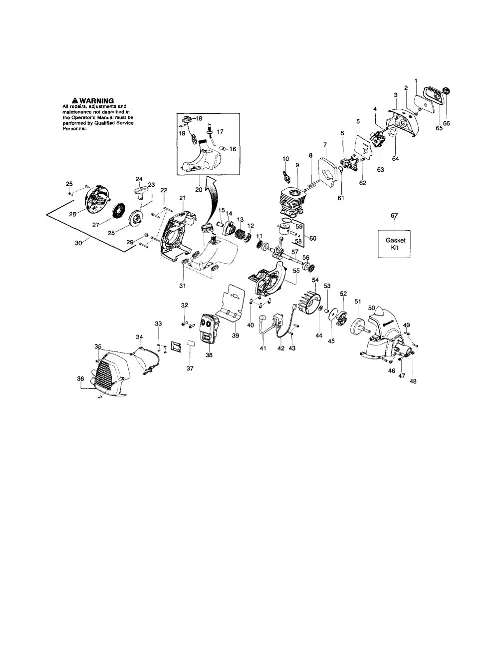medium resolution of husqvarna 125e cylinder crankshaft crankcase diagram