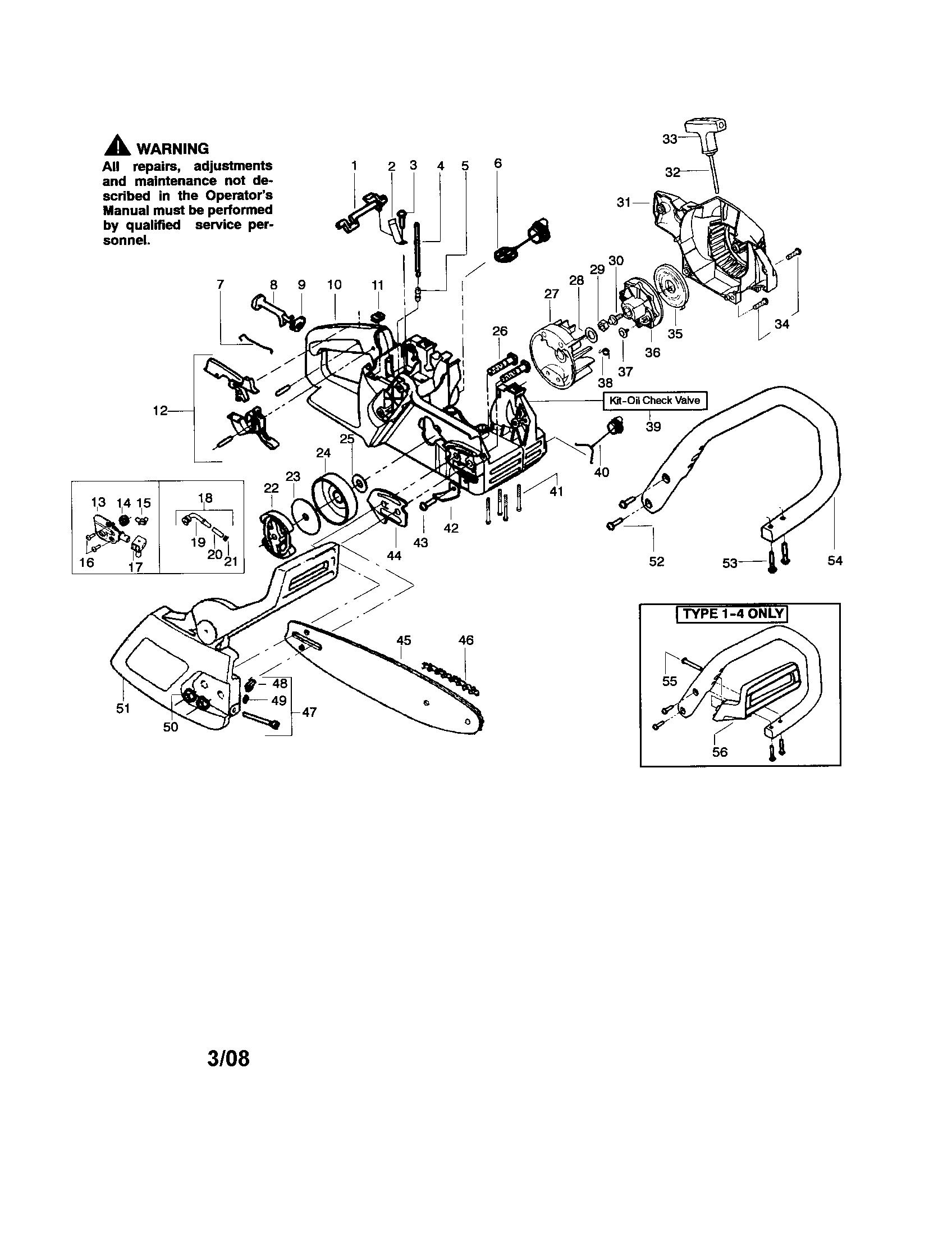 Poulan Chain Saw Parts Diagram : poulan, chain, parts, diagram, Poulan, Chainsaw, Parts, Sears, PartsDirect