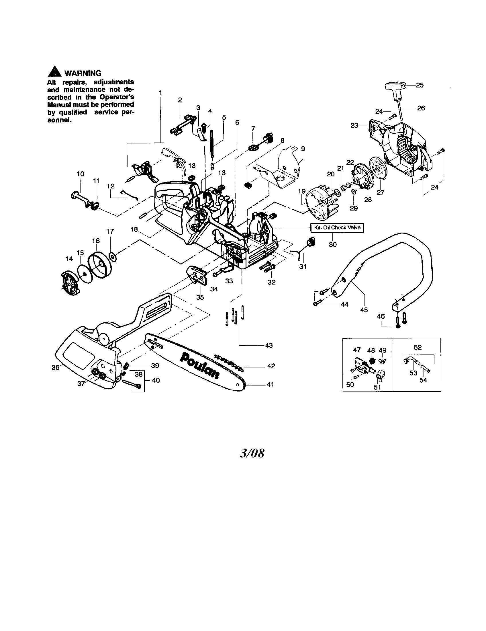 Poulan Chainsaw Fuel Line Diagram, Poulan, Free Engine