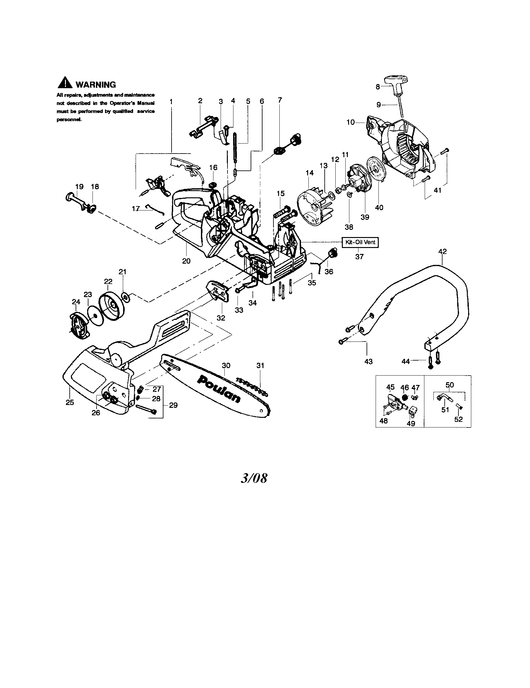 poulan 2150 fuel line diagram 1972 fj40 wiring pin 2050 2175 2375 chainsaw parts list page 3