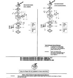 poulan 1950 type 6 carburetor walbro zama diagram [ 1696 x 2200 Pixel ]