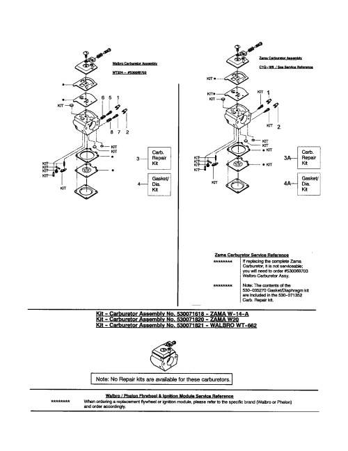 small resolution of poulan 1950 type 6 carburetor walbro zama diagram