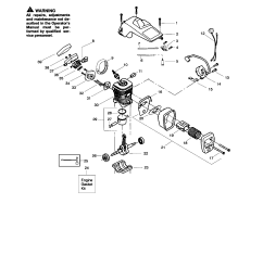 poulan 260 type 4 5 shield cylinder crankshaft diagram [ 1696 x 2200 Pixel ]
