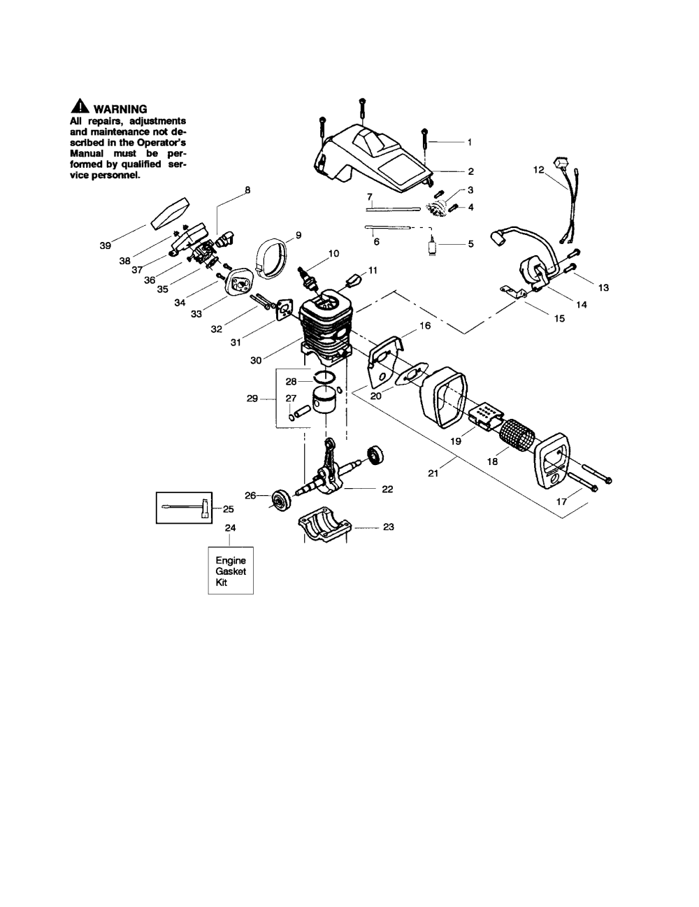 medium resolution of poulan 260 type 4 5 shield cylinder crankshaft diagram