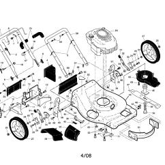 Husqvarna Lawn Mower Parts Diagram Mim Tele Wiring Model 917374425 Walk Behind Lawnmower Gas Genuine