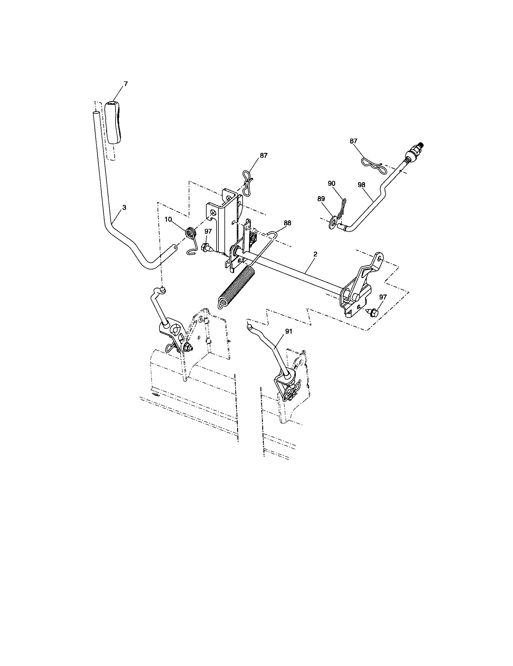 hight resolution of craftsman 917287130 lift diagram