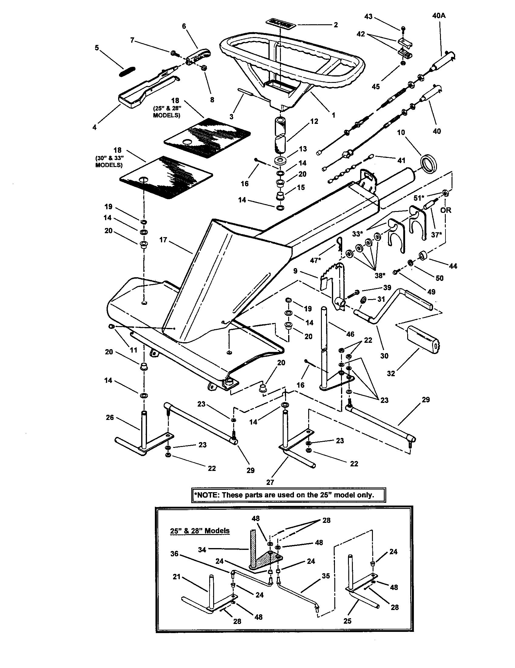 front end steering diagram parts list for model 331416bve snapper