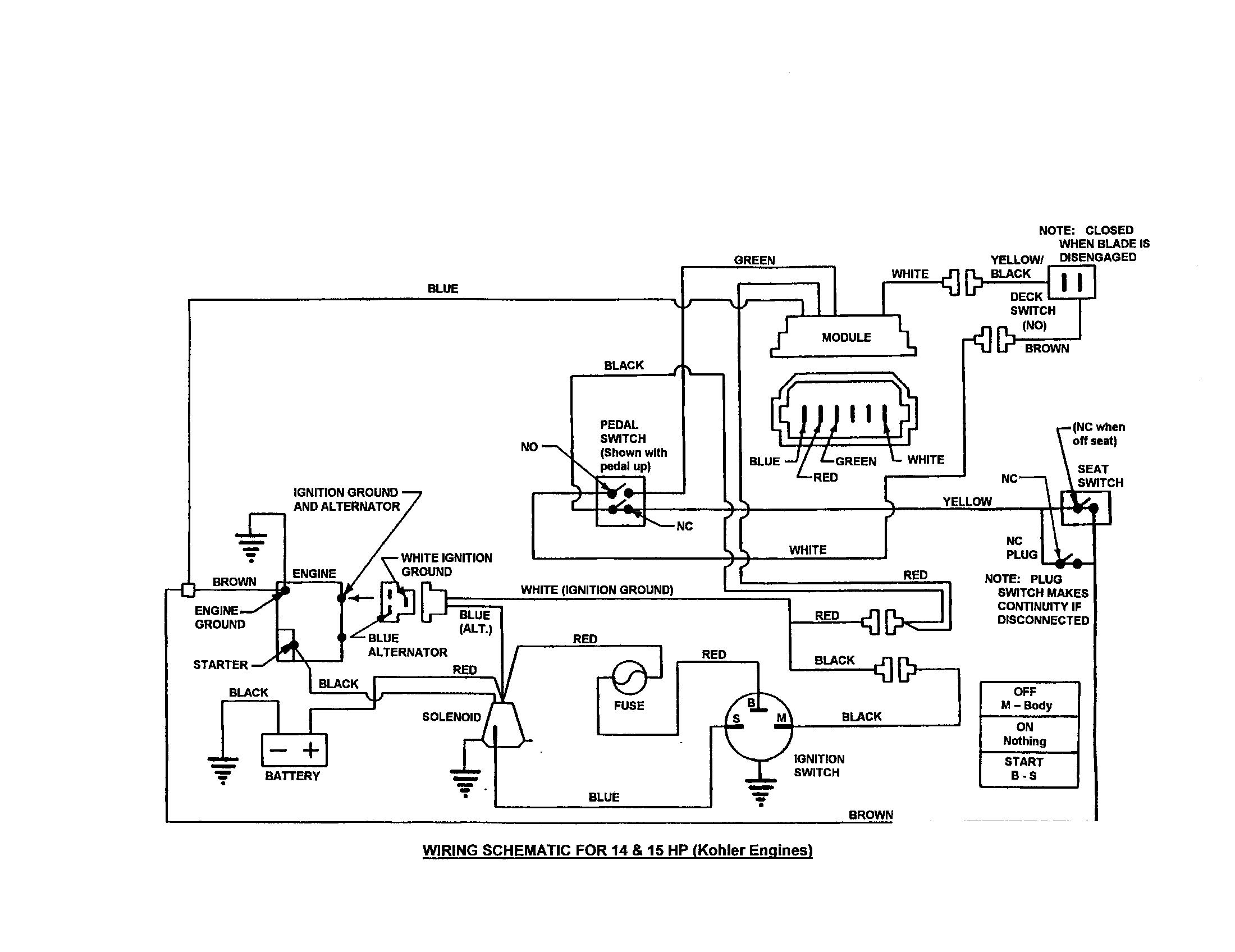 medium resolution of snapper 250816b wiring schematic 14 15 hp kohler diagram