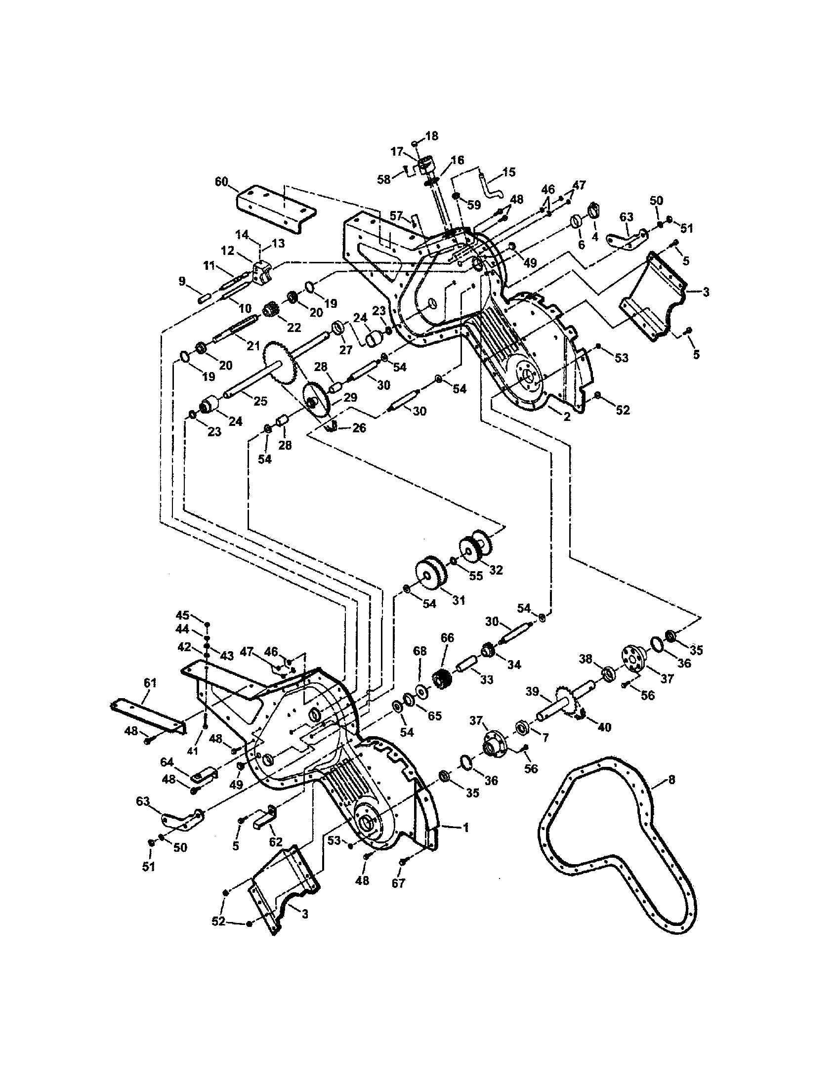 MAIN CASE (SERIES 4 & 5) Diagram & Parts List for Model