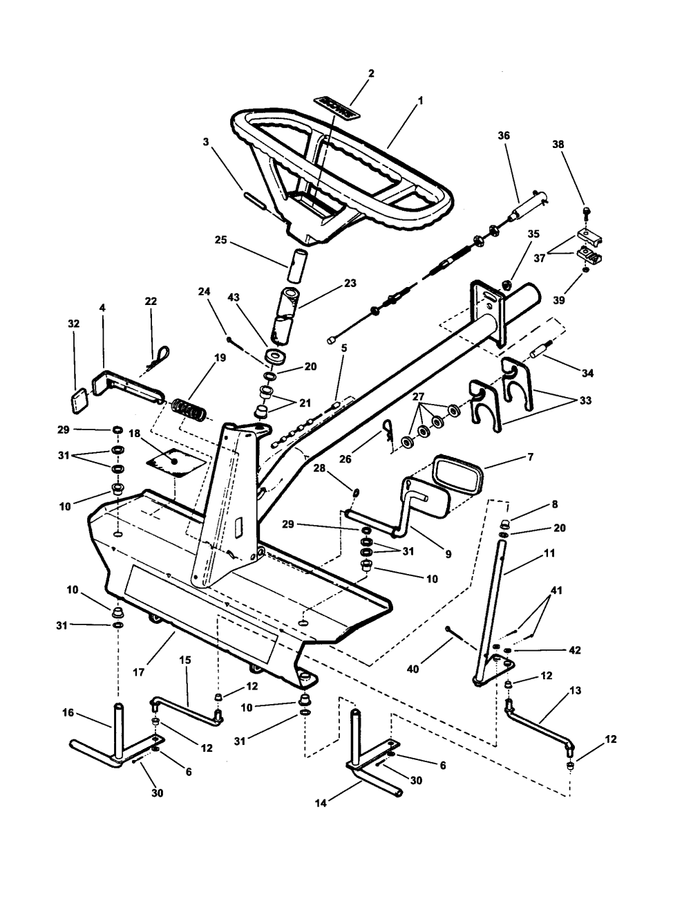 medium resolution of snapper wm280921b front end steering diagram
