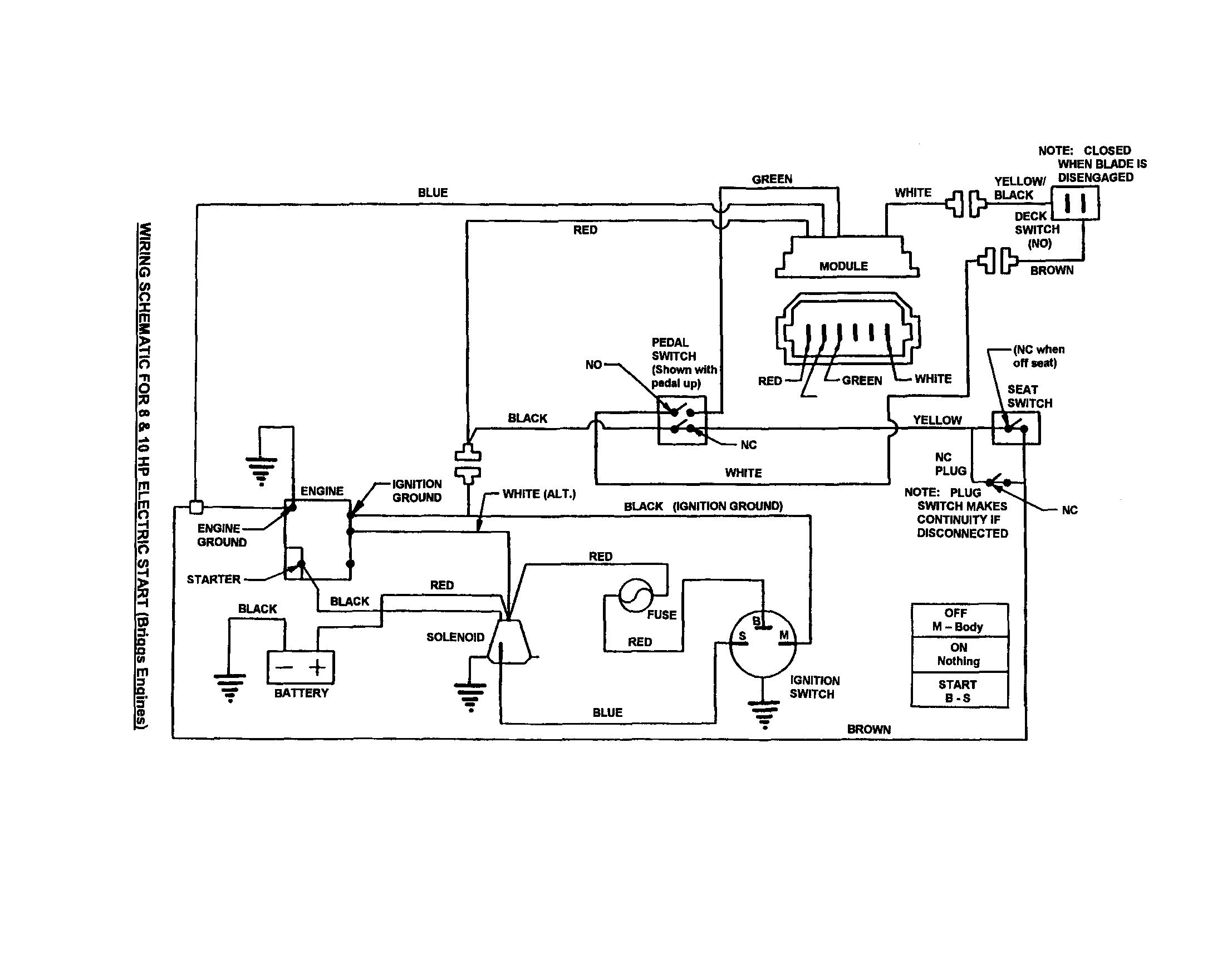 medium resolution of sear riding mower wiring diagram