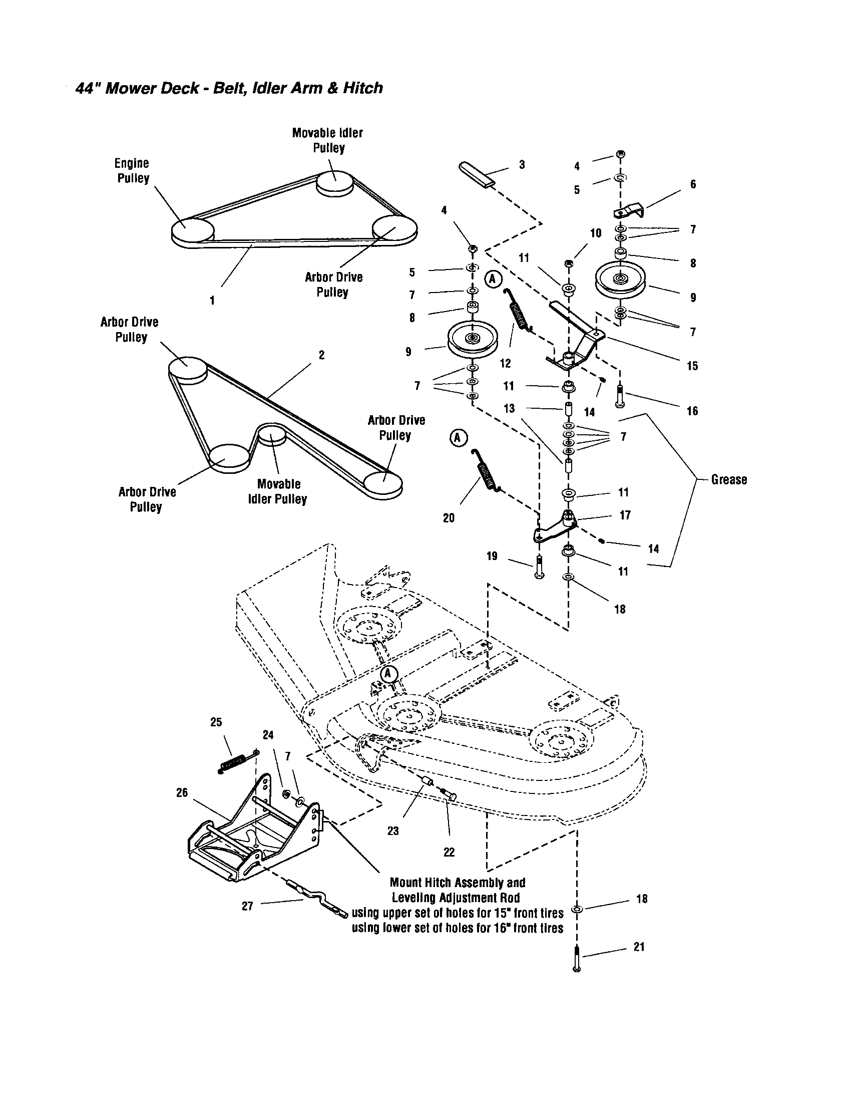 Snapper Belt Replacement Diagram : snapper, replacement, diagram, Snapper, LT1644, Front-engine, Tractor, Parts, Sears, PartsDirect