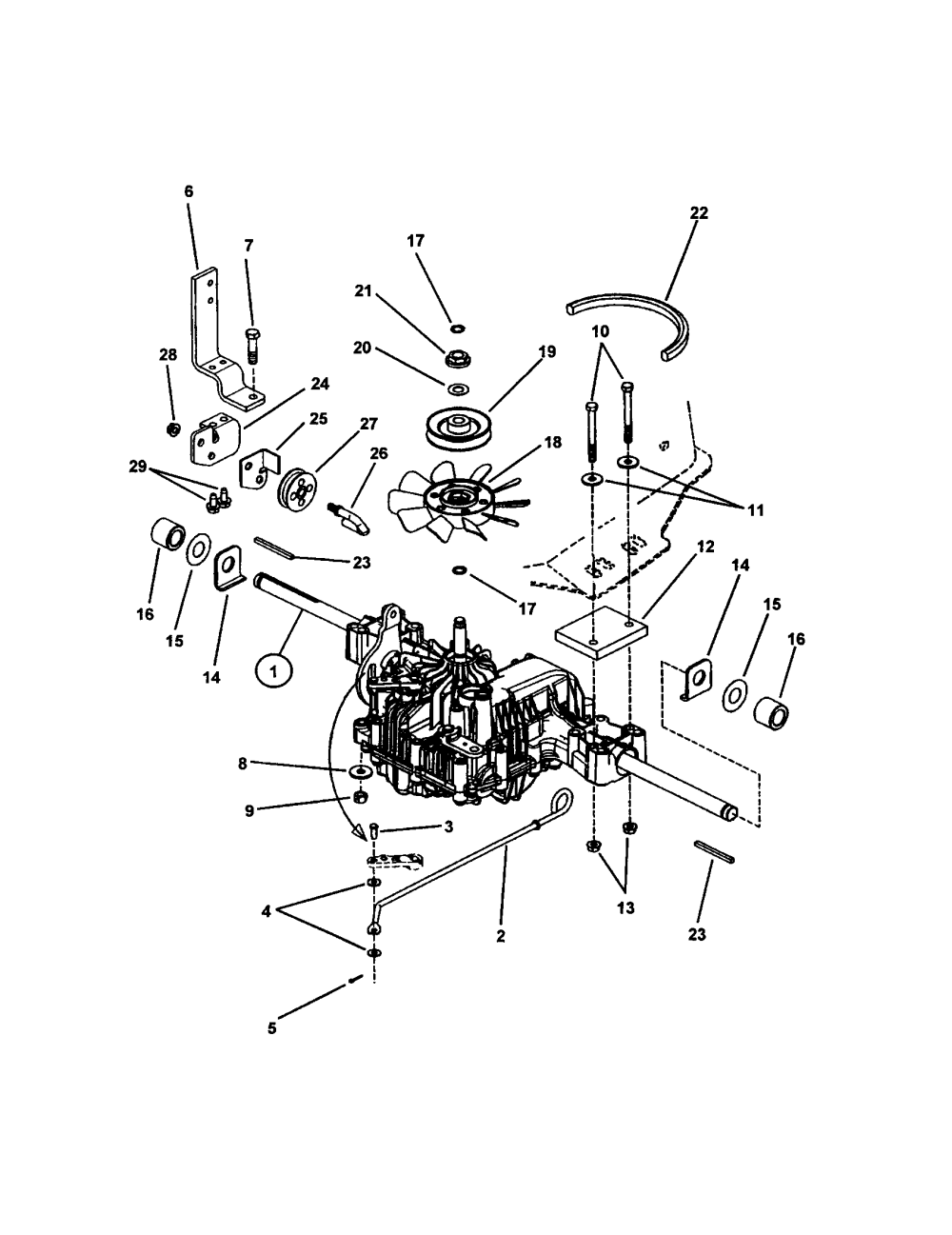 medium resolution of snapper lt145h38fbv transmission hydro drive diagram