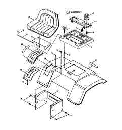 snapper lt145h38fbv seat rear fender diagram [ 1696 x 2200 Pixel ]