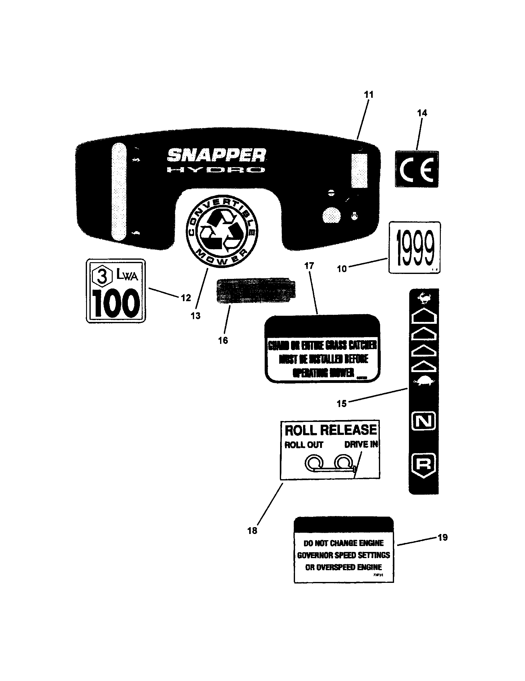 hight resolution of snapper lt145h38fbv decals part 2 diagram
