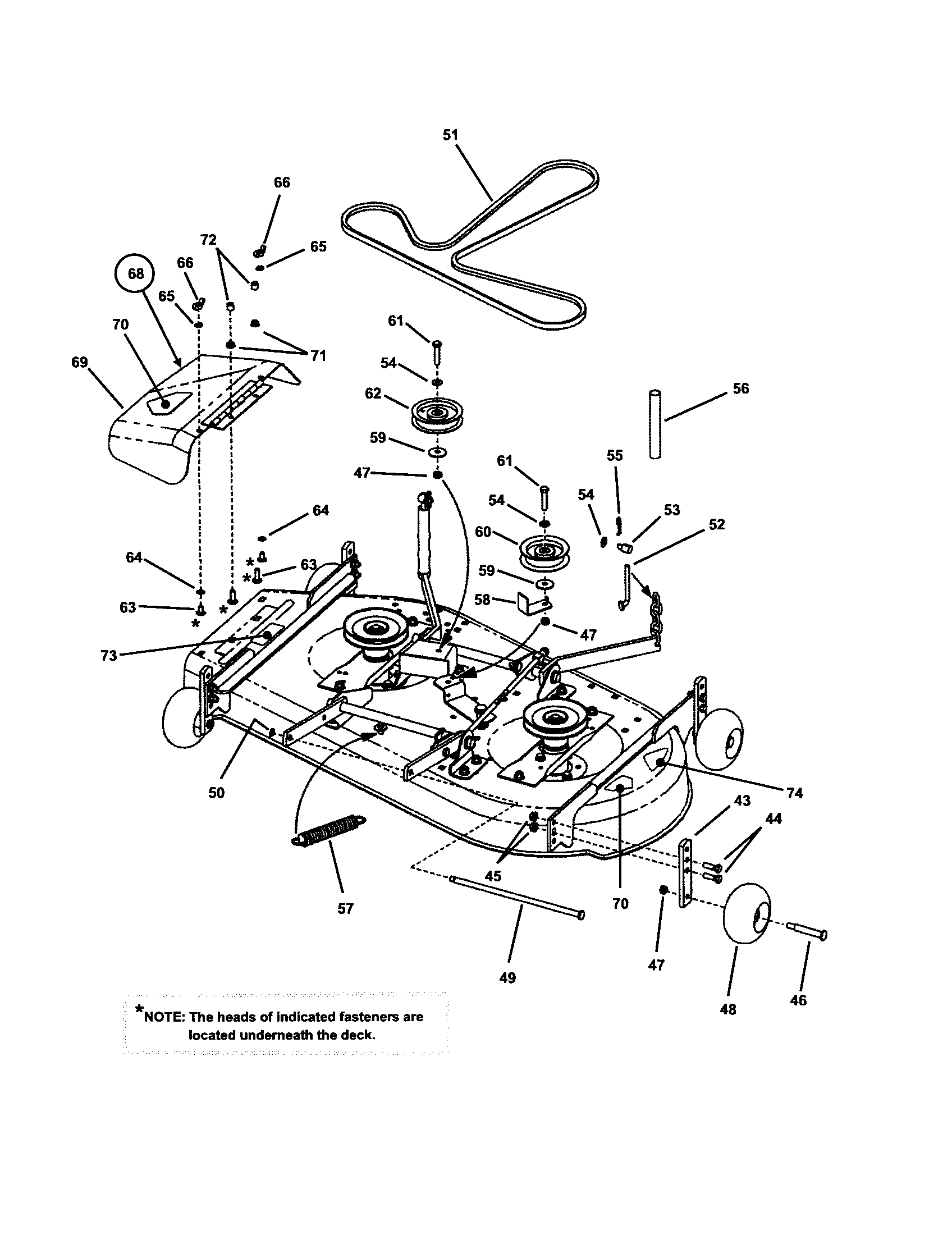 Wiring Diagram: 30 Snapper 42 Inch Deck Belt Diagram