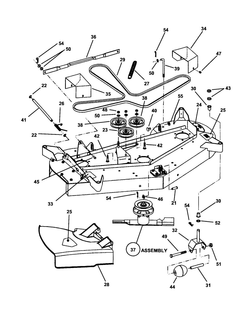 medium resolution of snapper hzs14331bve 48 mower deck diagram