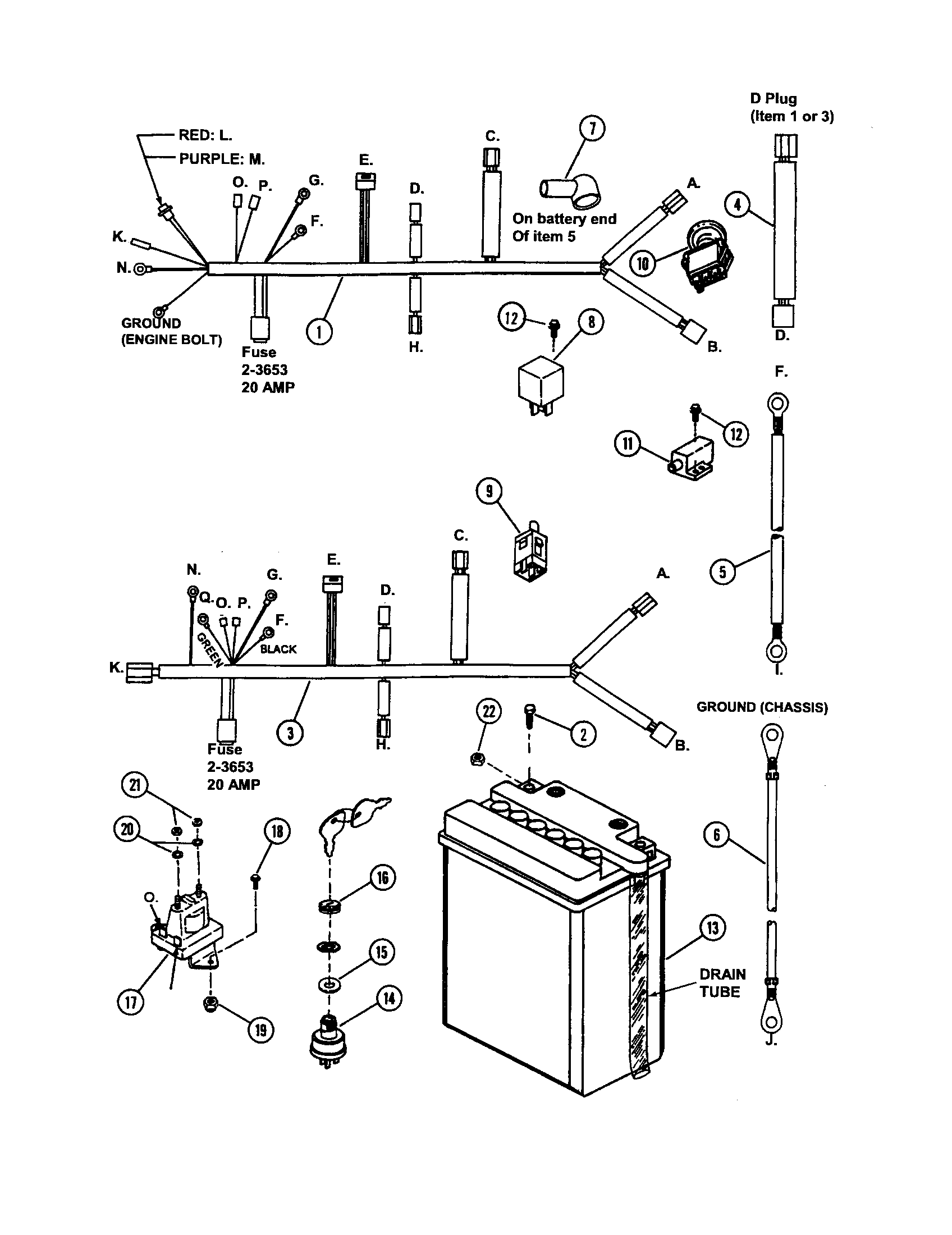 ELECTRICAL COMPONENTS Diagram & Parts List for Model