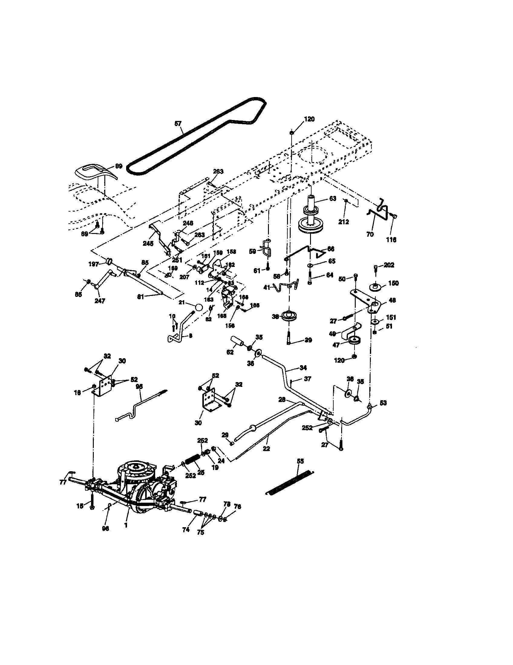 GROUND DRIVE Diagram & Parts List for Model 917273381