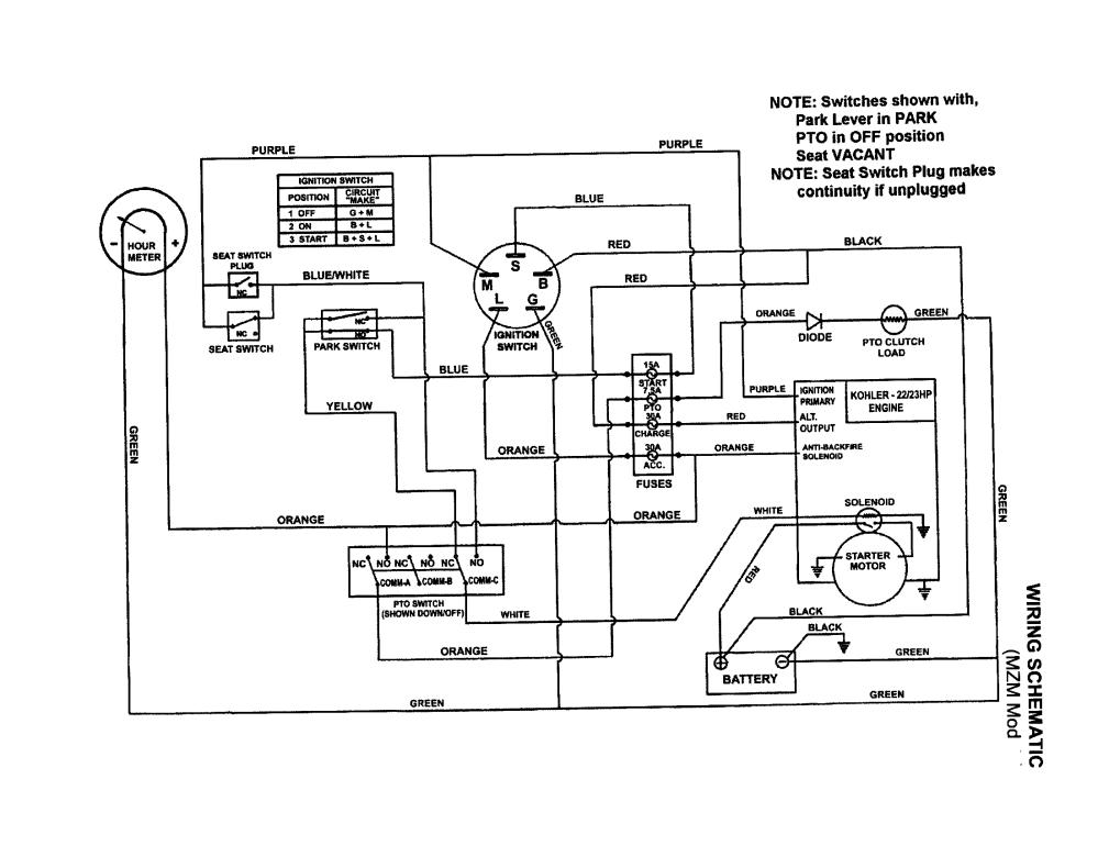 medium resolution of snapper model zm2500kh lawn riding mower rear engine genuine parts snapper wiring schematic
