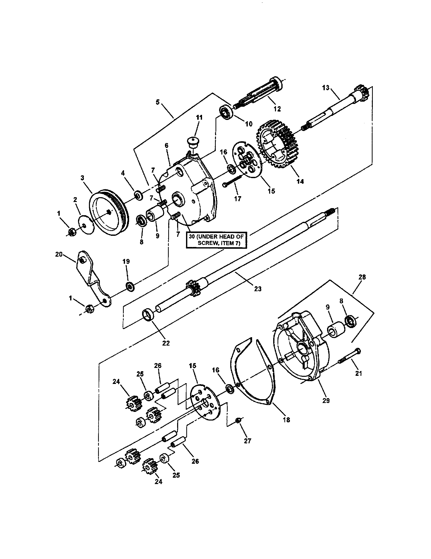 TRANSMISSION (DIFFERENTIAL) Diagram & Parts List for Model
