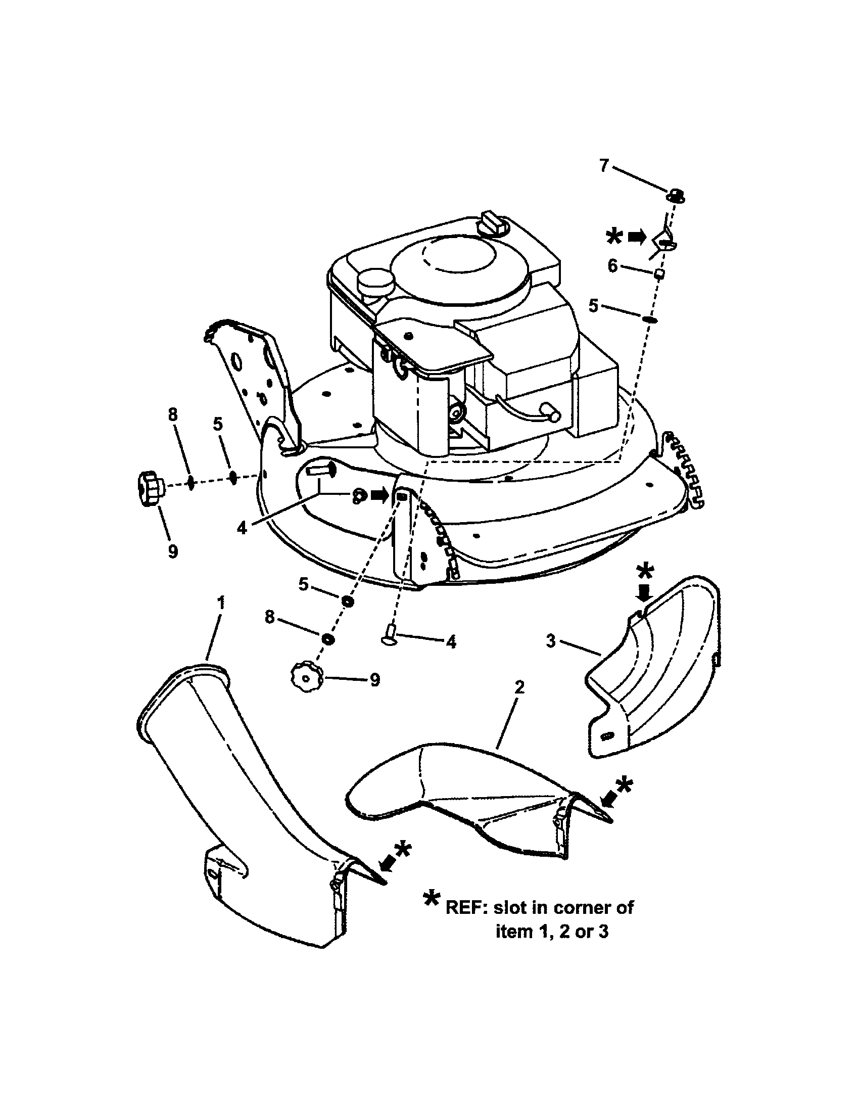 Lawn Mower Diagram And Parts List For Craftsman Walk