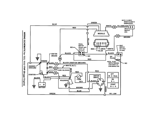 small resolution of snapper riding lawn mower wiring schematic