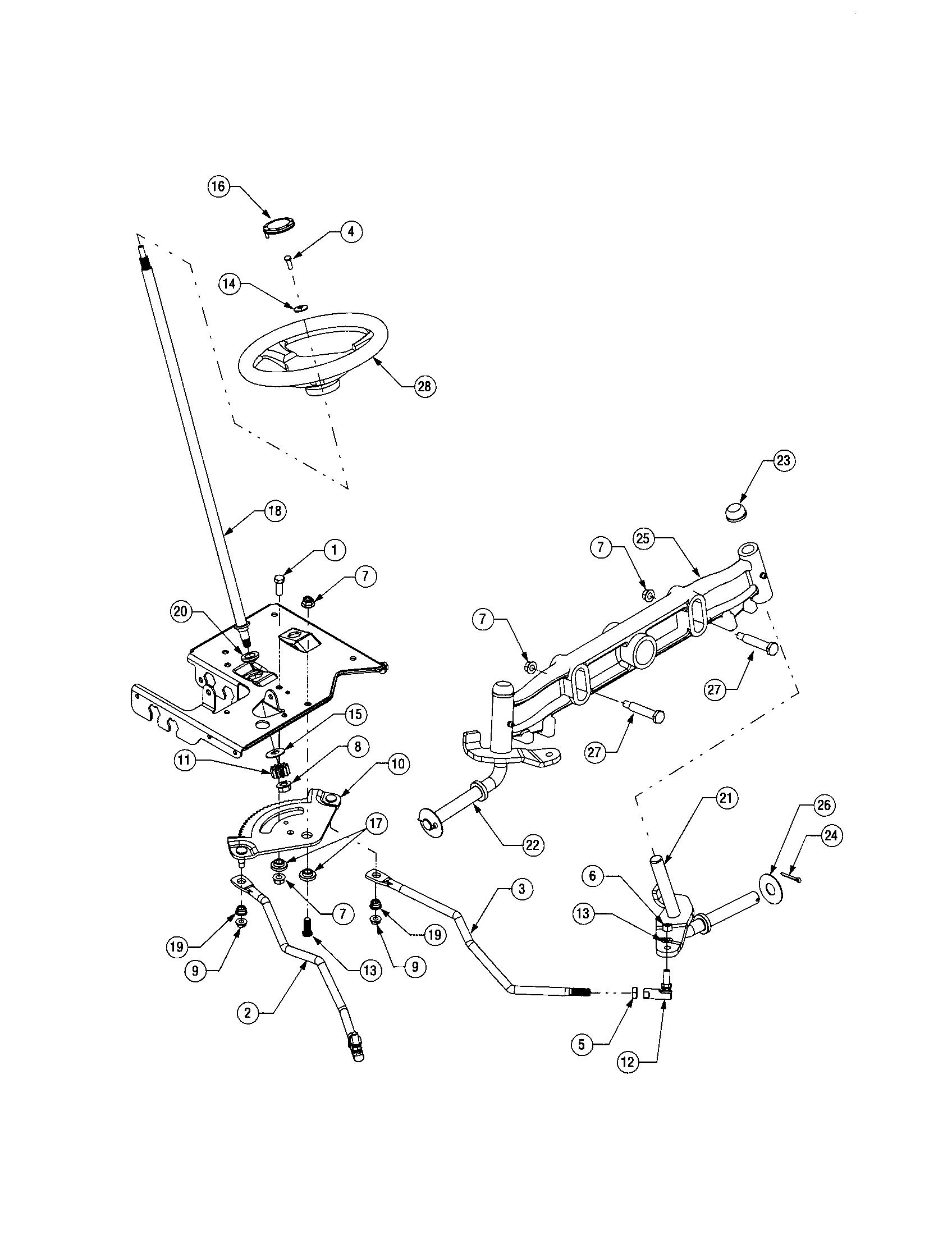 STEERING Diagram & Parts List for Model 13AX60RG744 Toro