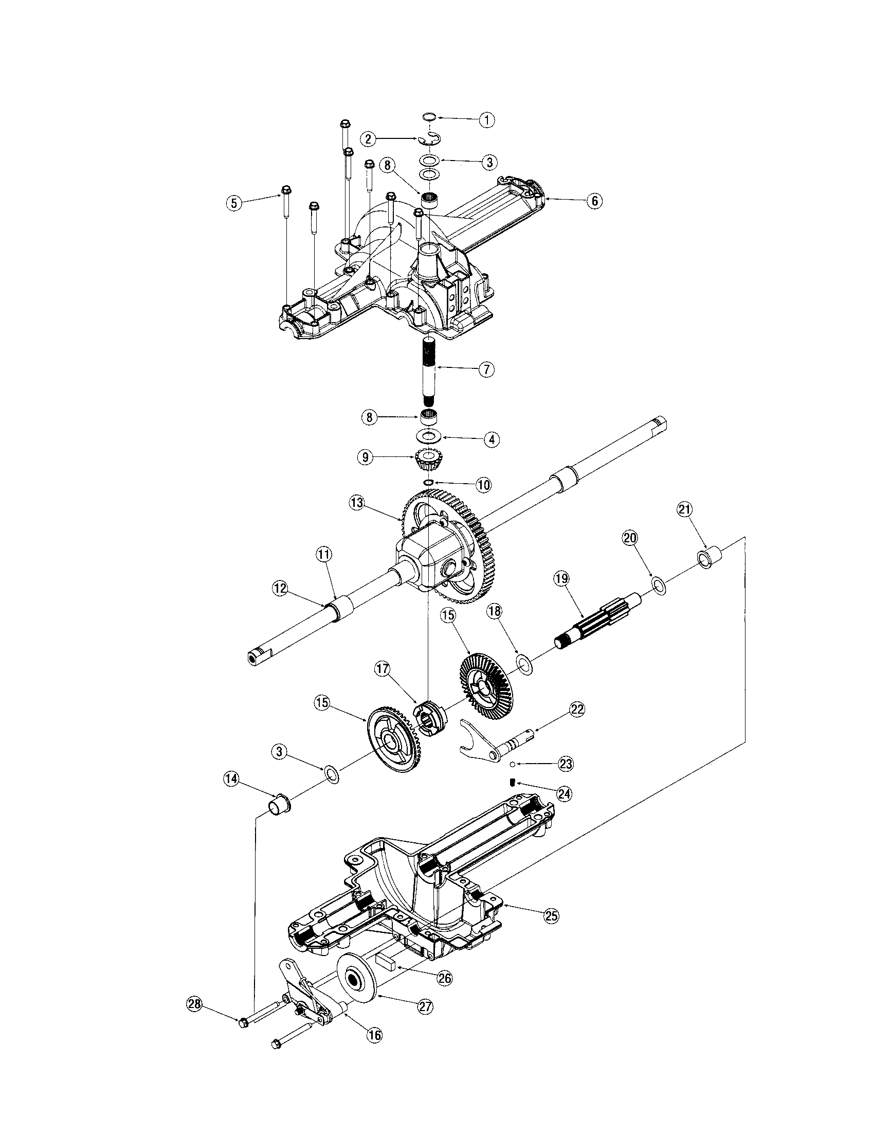 DIFFERENTIAL Diagram & Parts List for Model lx420 Toro