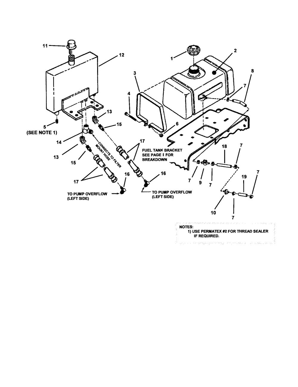 medium resolution of snapper sp520 series 0 fuel tank diagram