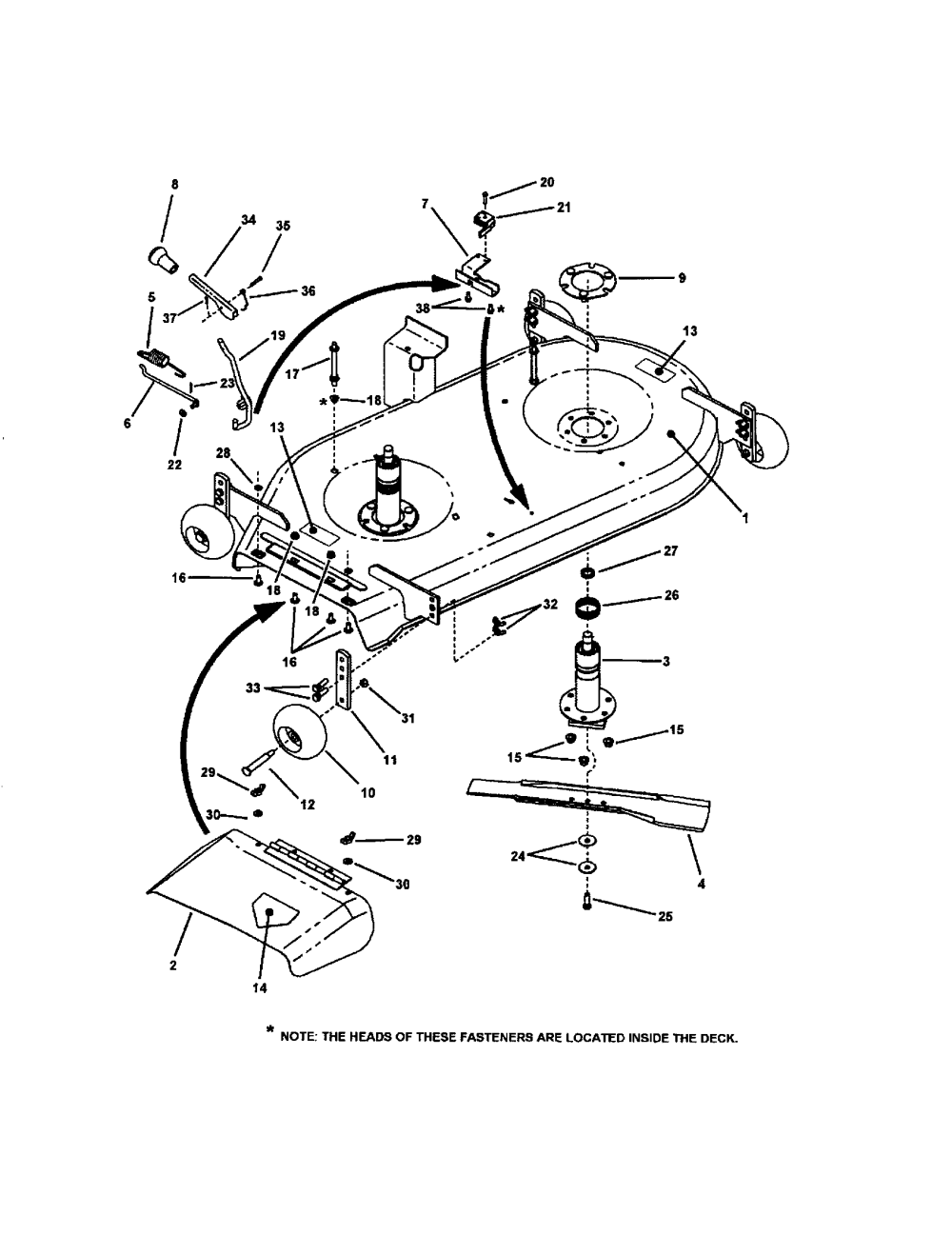 medium resolution of 42 mower deck pt 1 diagram and parts list for snapper ridingmower